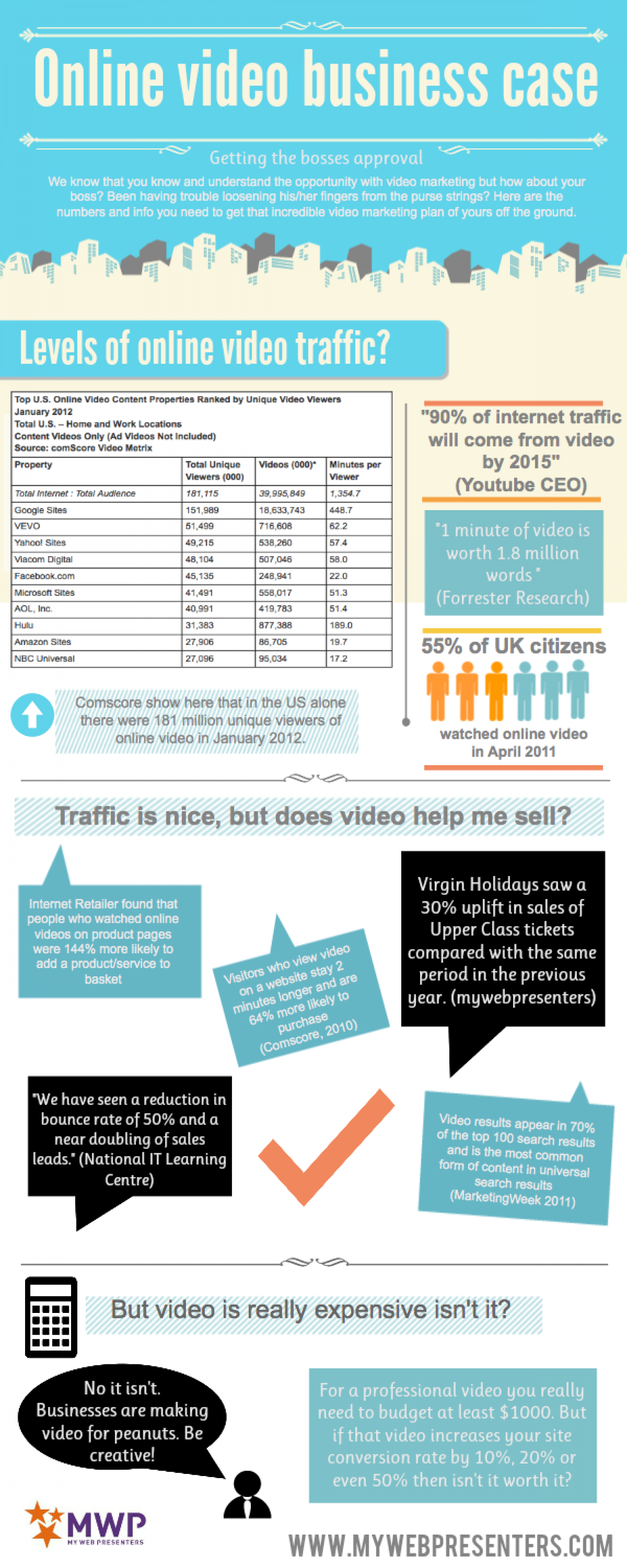 Online Video Business Case Infographic Infographic