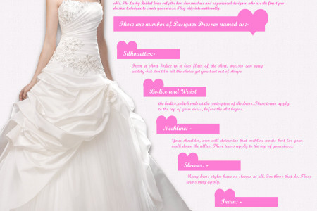 Online Wedding Dresses Shop Infographic