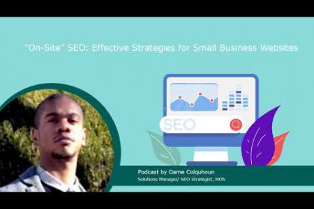 """""""On-Site"""" SEO: Effective Strategies for Small Business Websites Infographic"""