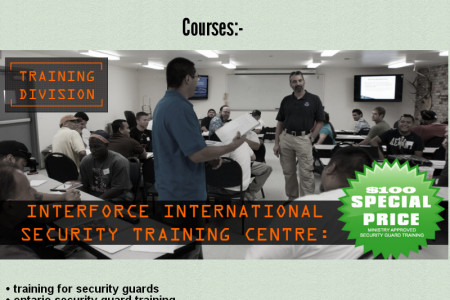 Ontario Security Guard Training Centre - Interforce International Infographic
