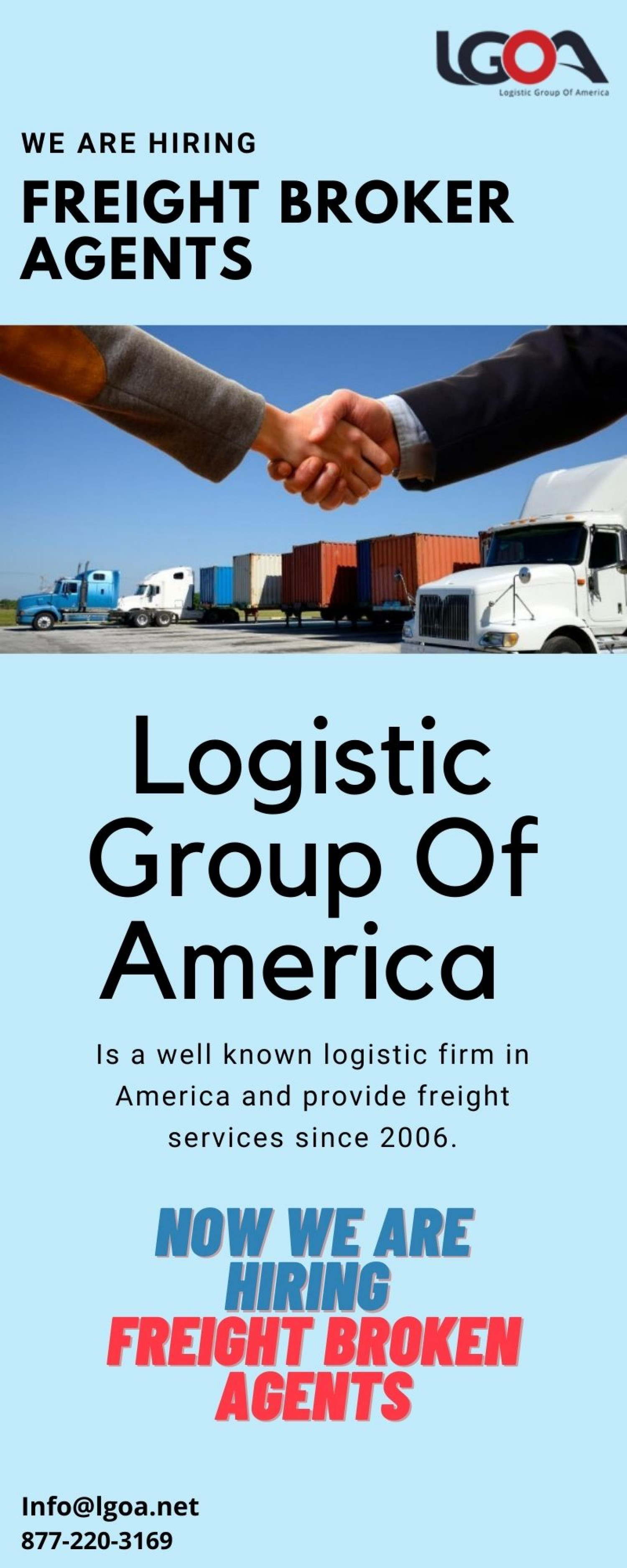 Open Positions For Freight Broker Agents Infographic