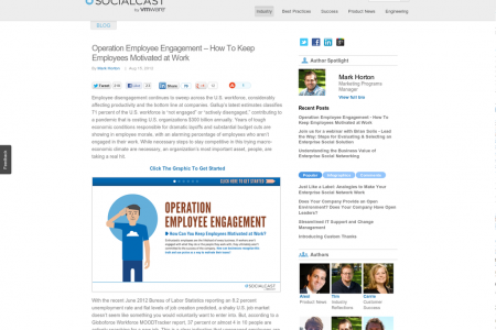 Operation Employee Engagement Infographic