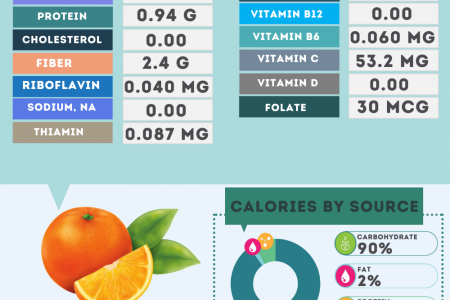 Orange nutrition facts Infographic