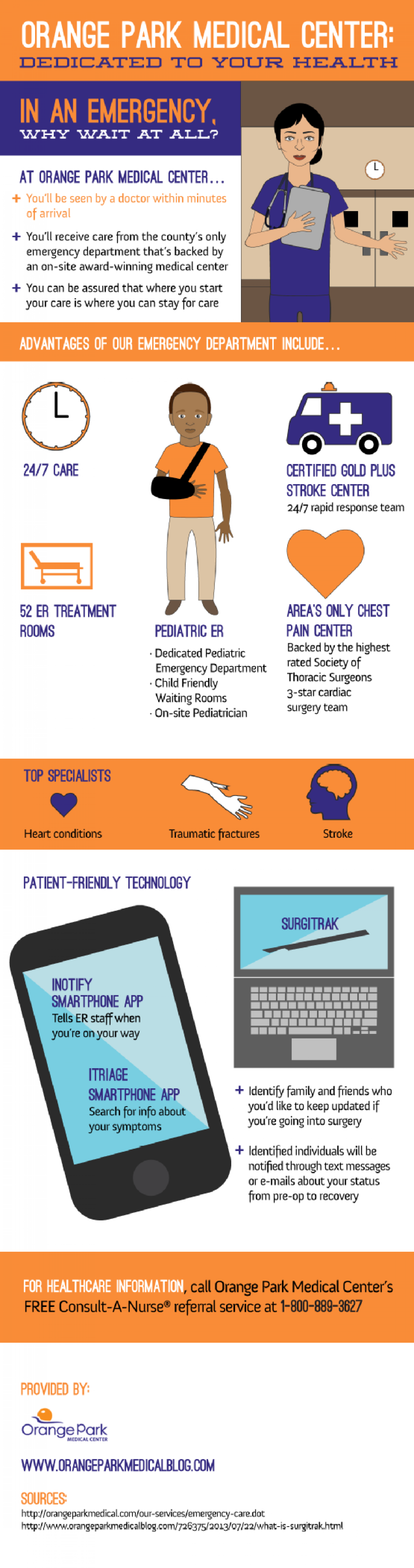 Orange Park Medical Center: Dedicated to Your Health  Infographic