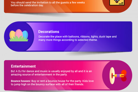 Organize a surprise Birthday party for your kid  Simple Steps to Plan the party Infographic