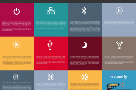 Origins of Popular UI Icons Infographic