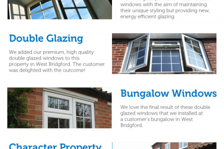 Our Double Glazing Installations in West Bridgford Infographic
