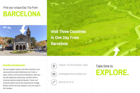 our of Three Countries In One Day From Barcelona (France, Andorra, Spain) With Pickup Infographic