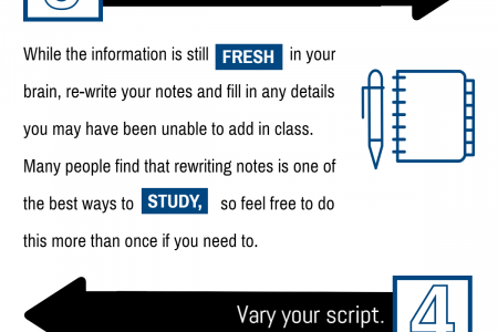 Our Top Five Note Taking Tips Infographic