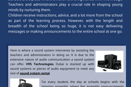 Outreached Communication In School With Sound System Rental Dubai Infographic