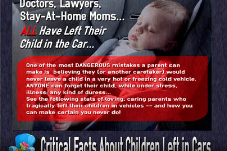 Over 600 Kids Have Died from Being Left in Cars Infographic