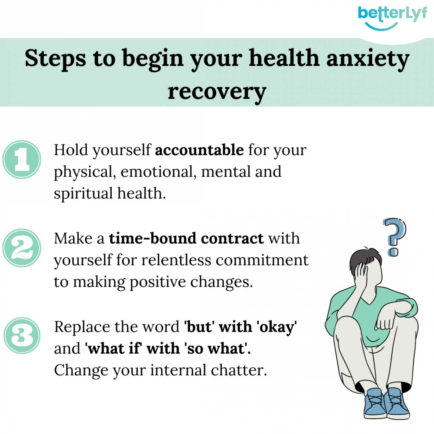 Overcome Health Anxiety - Online Counselling - BetterLYF Infographic