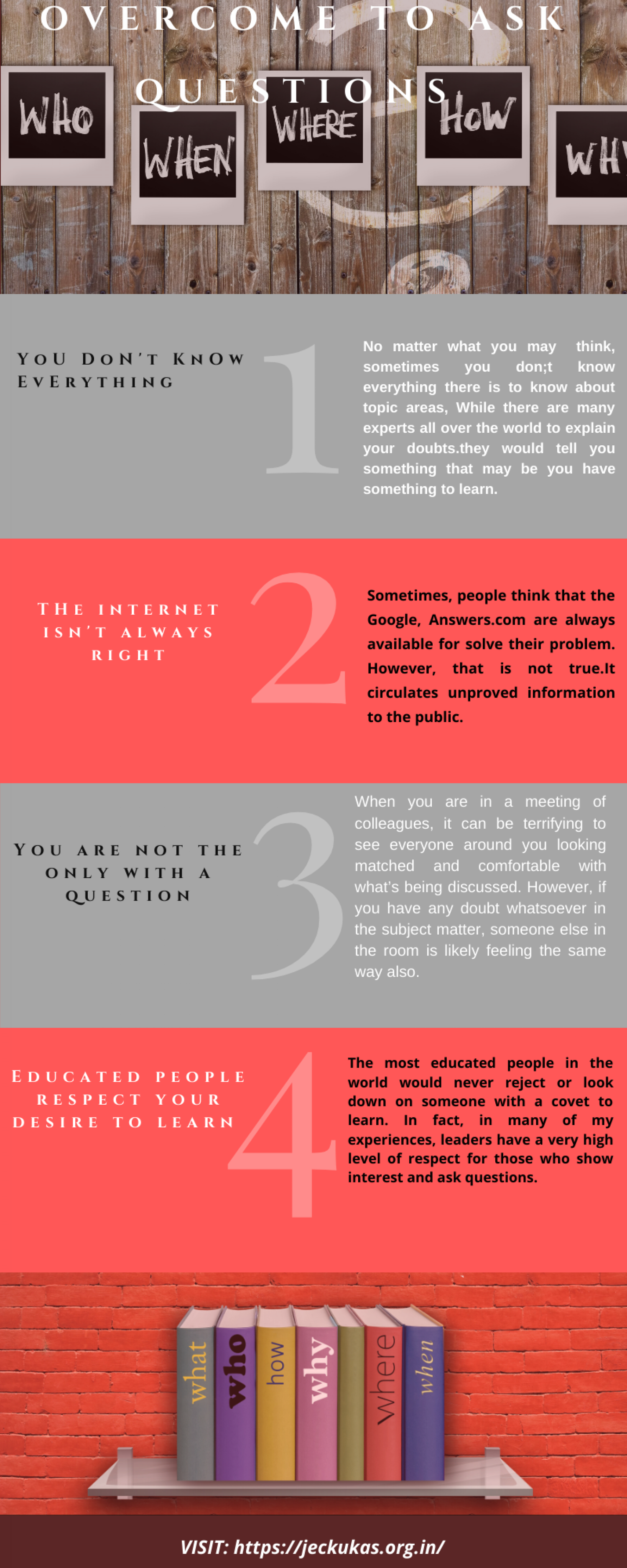Overcome To Ask Questions Infographic