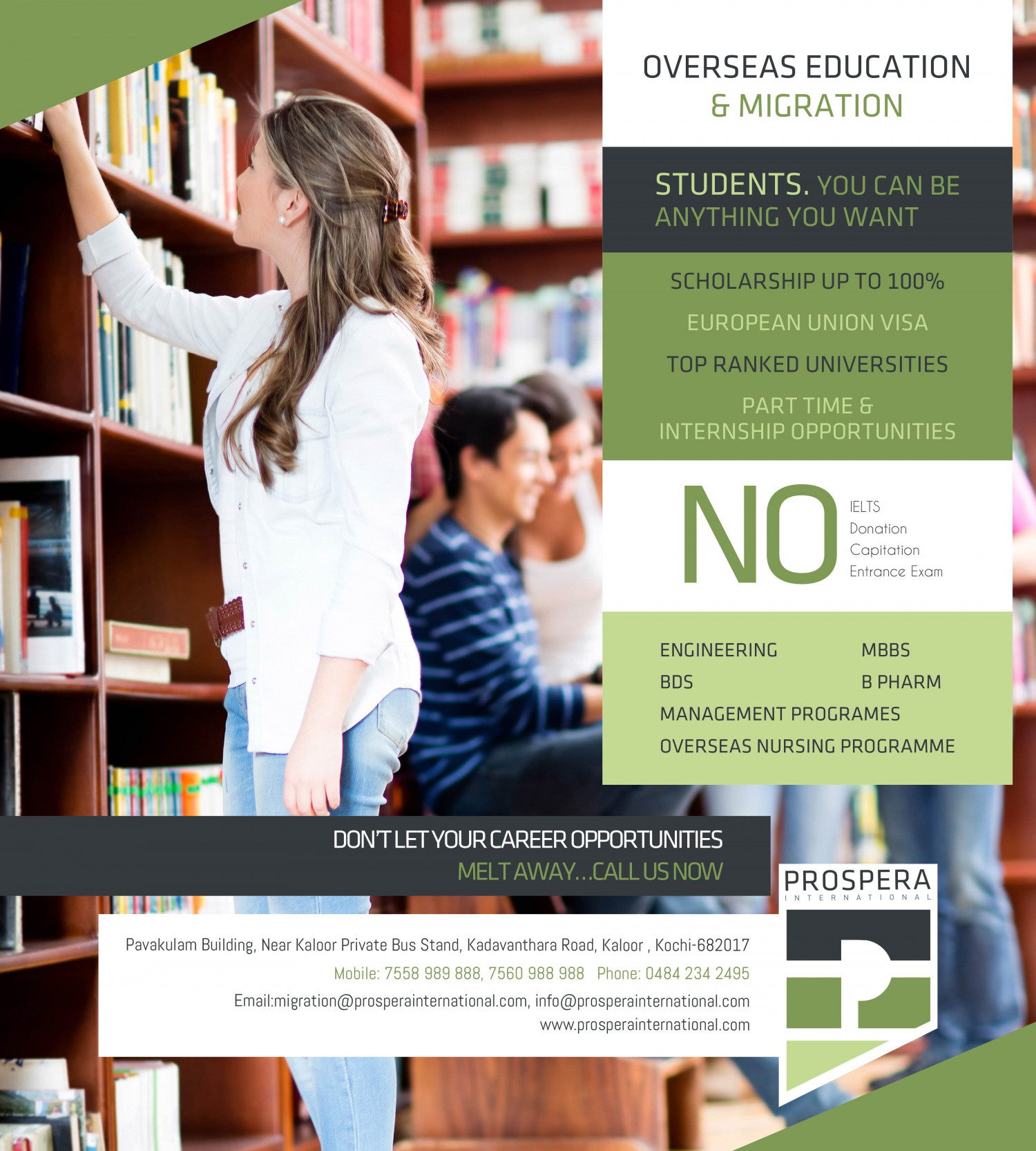 Overseas education and Migration Infographic