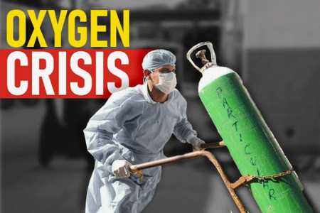 Oxygen crisis in India Infographic