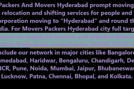 Packers And Movers In Hyderabad For Ensured And Secure Relocation Infographic