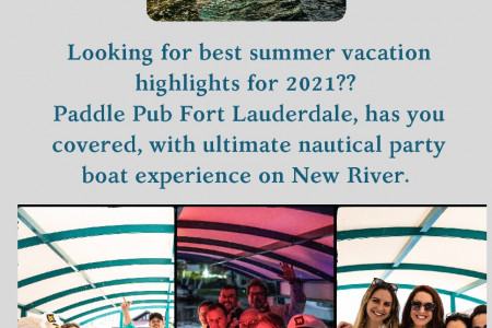 Paddle Pub's cycleboat Fort Lauderdale Infographic