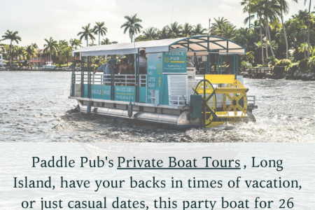 Paddle Pub's private boat tours in Patchogue  Infographic