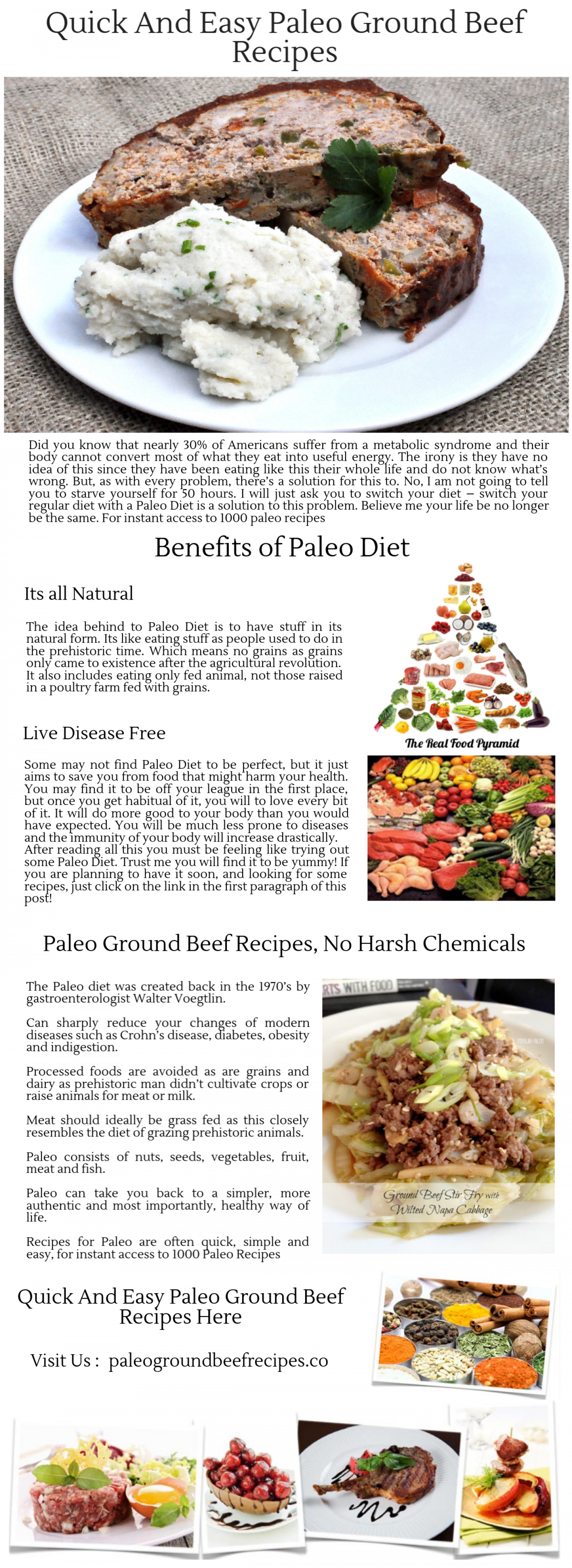 Paleo Ground Beef Recipes - Visual.ly