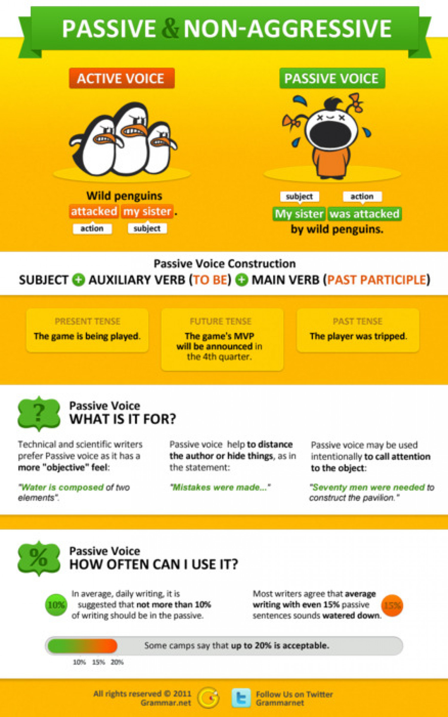 Passive and Non-aggressive Voice Infographic