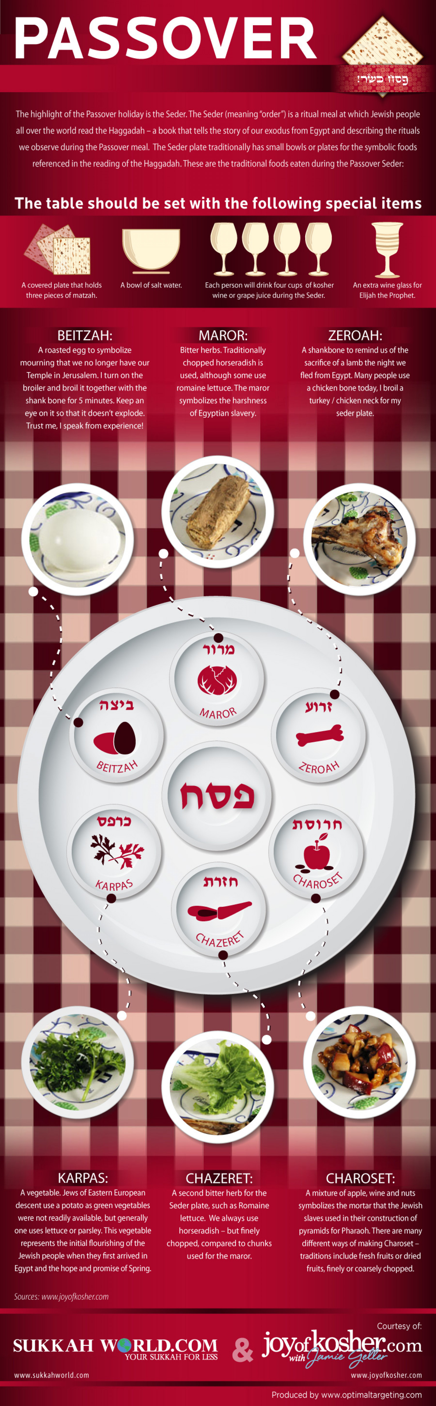 Passover Seder Plate Infographic