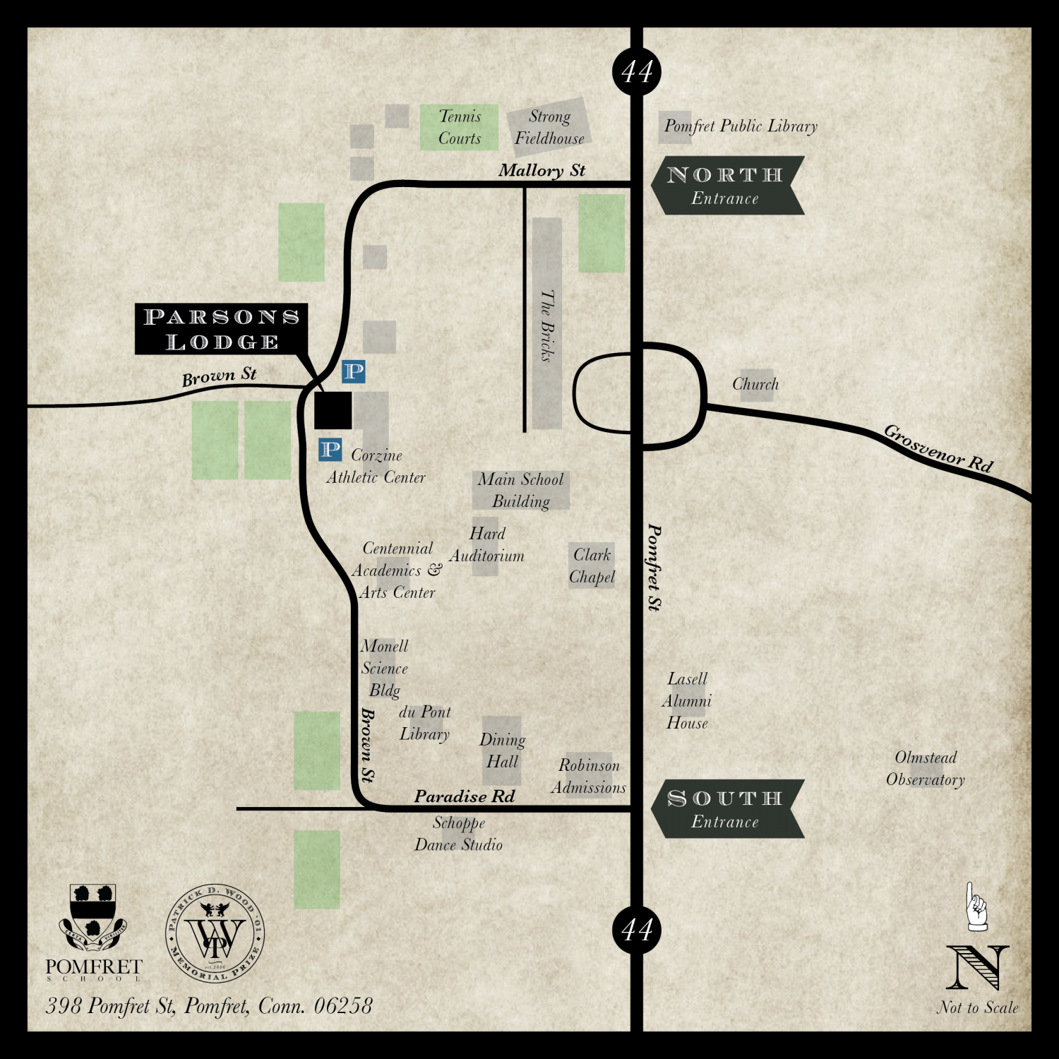 Patrick Wood Prize Fundraiser Location Map Infographic