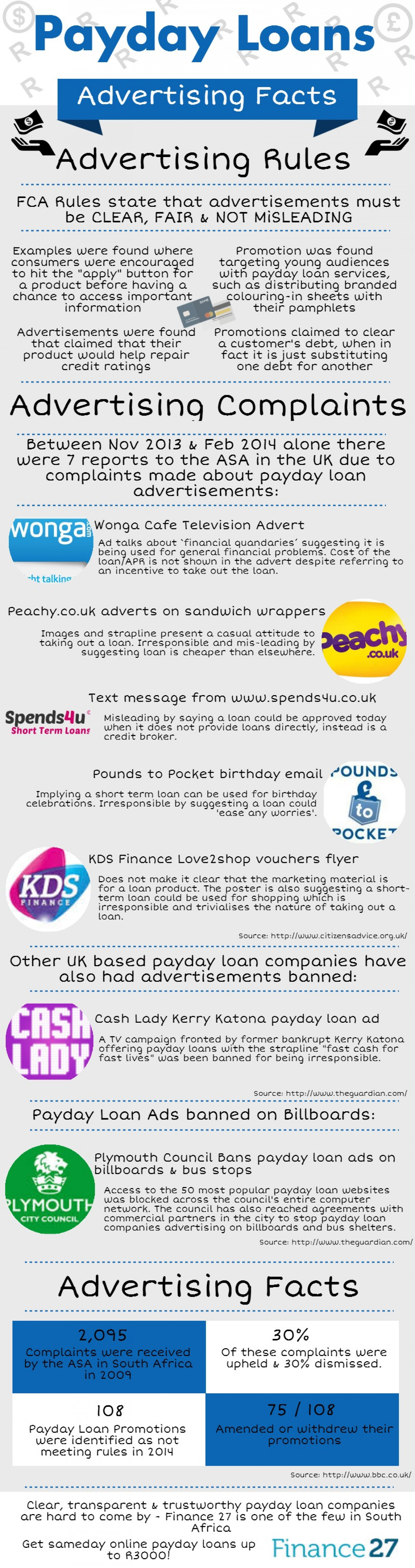 Payday Loan Advertising Facts Infographic