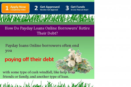 Payday Loans Online – Get More Funds At The Time For Financial Trouble Infographic