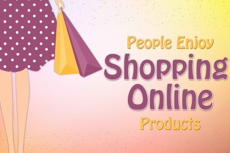 People Enjoy Shopping Online Products Infographic