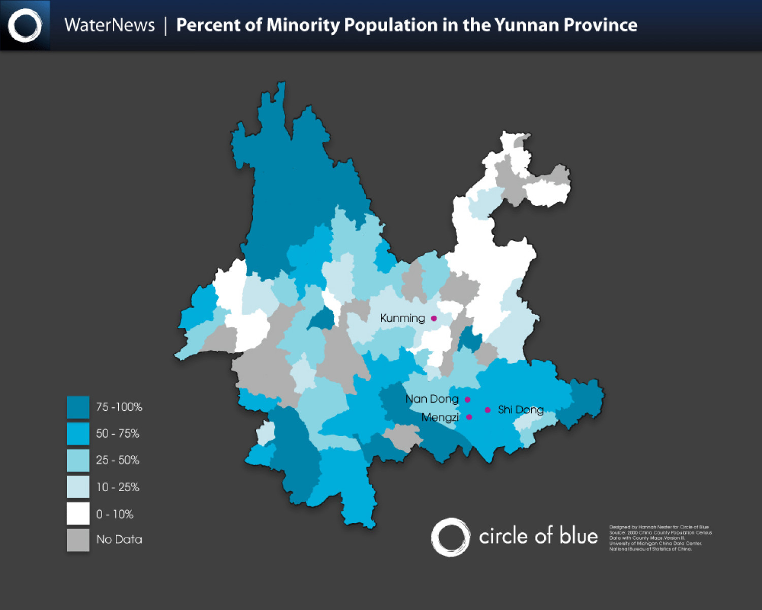 Percent of Minority Population in the Yunnan Province Infographic