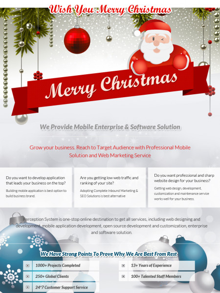 Perception System Wishes You A Merry Christmas  Infographic