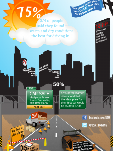 Perfect Driving Lessons Infographic