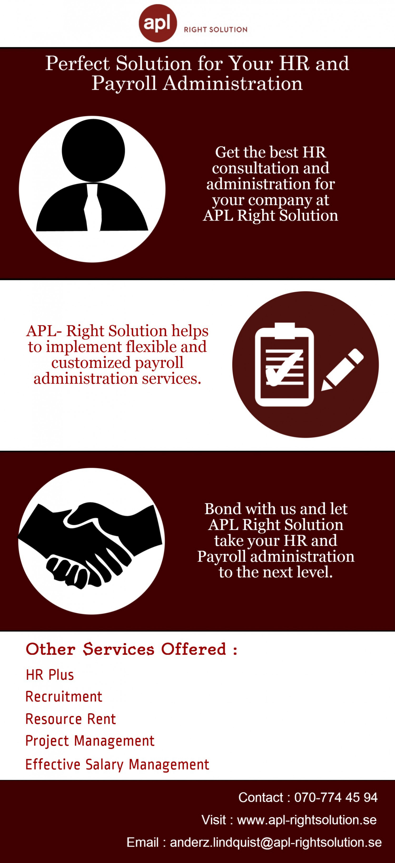Perfect Solution for your HR and Payroll Administration Infographic