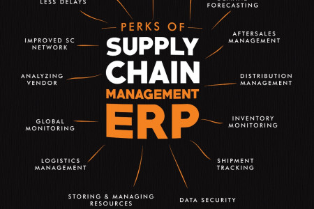 Perks of Supply Chain Management ERP Infographic