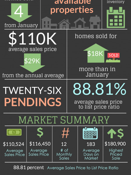 Perry GA Real Estate Market in February 2014 Infographic