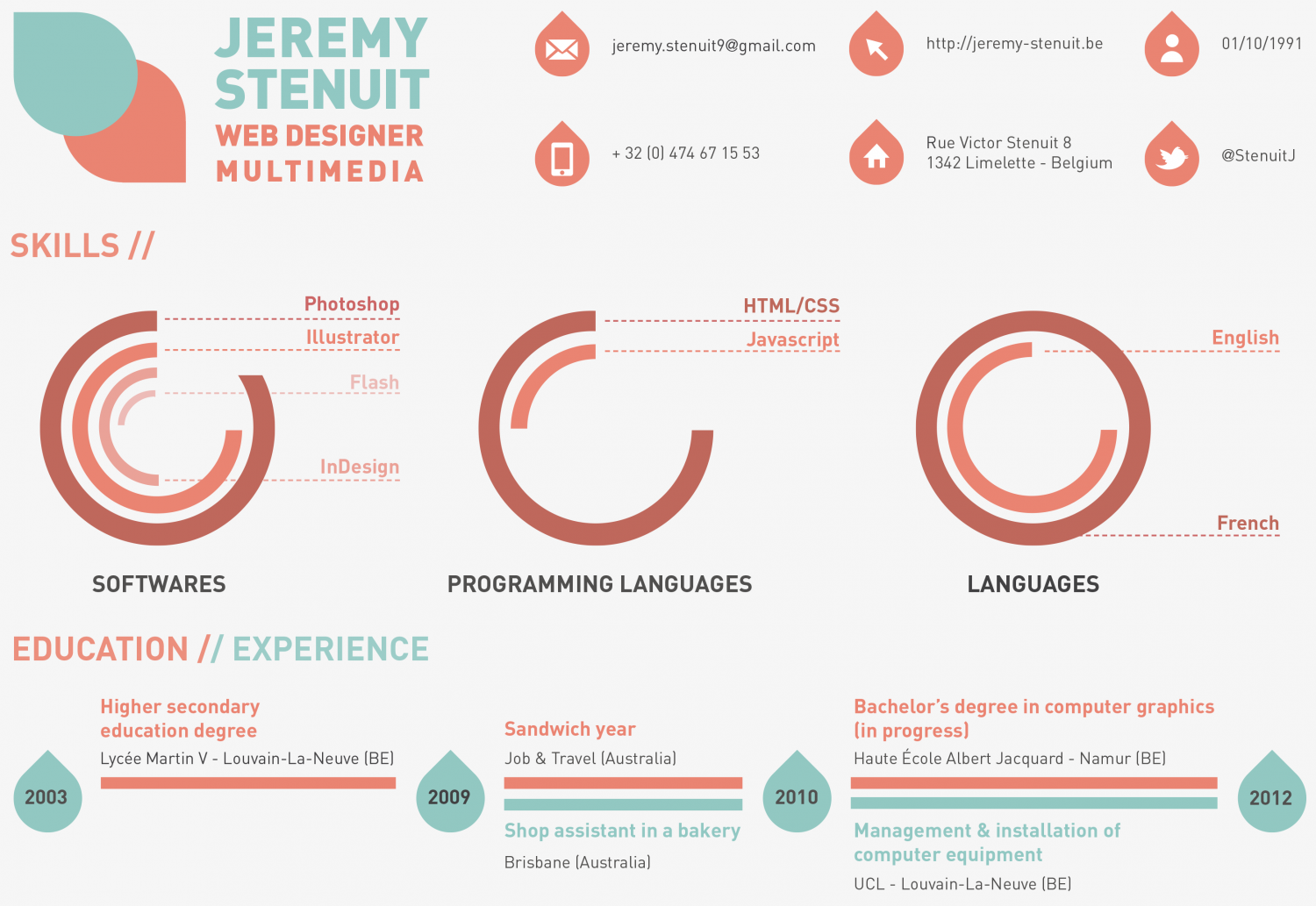 Personal Resume Infographic