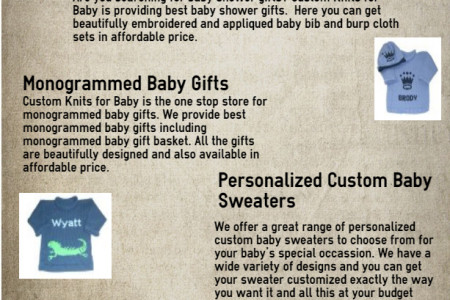 Personalized Custom Baby Sweaters Infographic