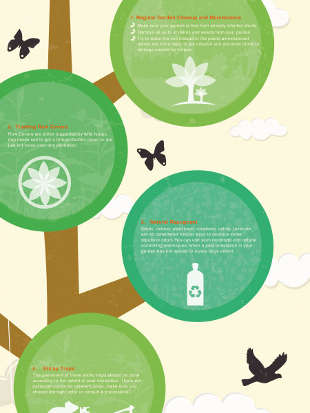 Pest Controlling Techniques for Organic Gardens Infographic