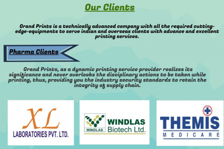 Pharmaceutical Products Printing and Carton Packaging. Infographic