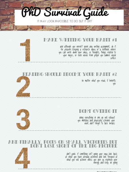 PhD Survival Guide Infographic