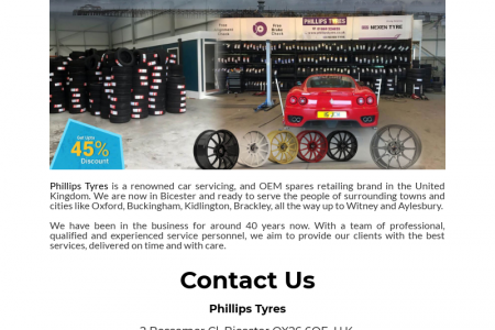 Phillips Tyres Bicester Infographic