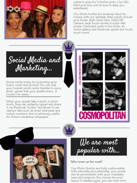 Photobooth Hire from King Of The Booth Infographic
