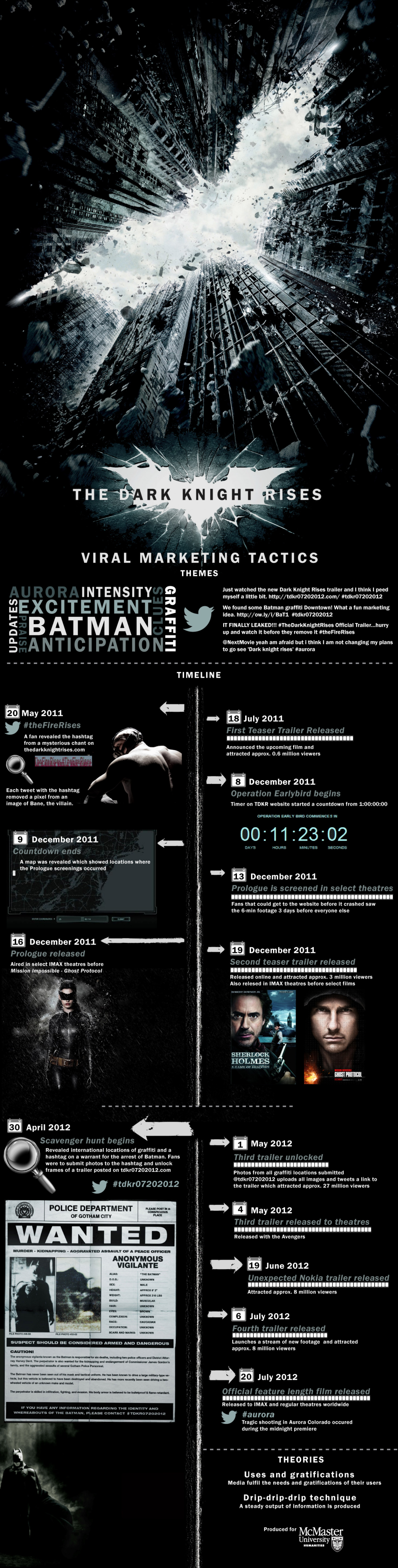 Pilot Case Study: The Dark Knight Rises Infographic
