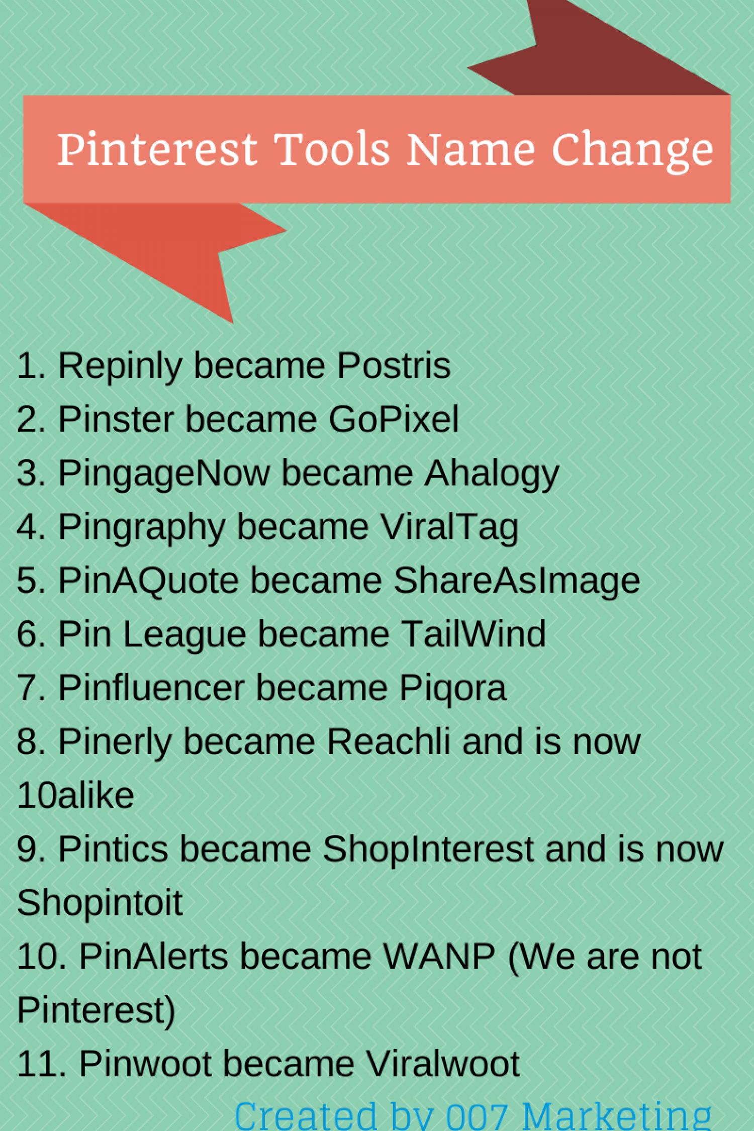 Pinterest Tools Name Change Infographic