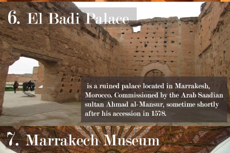 Places to visit in Marrakech  Infographic