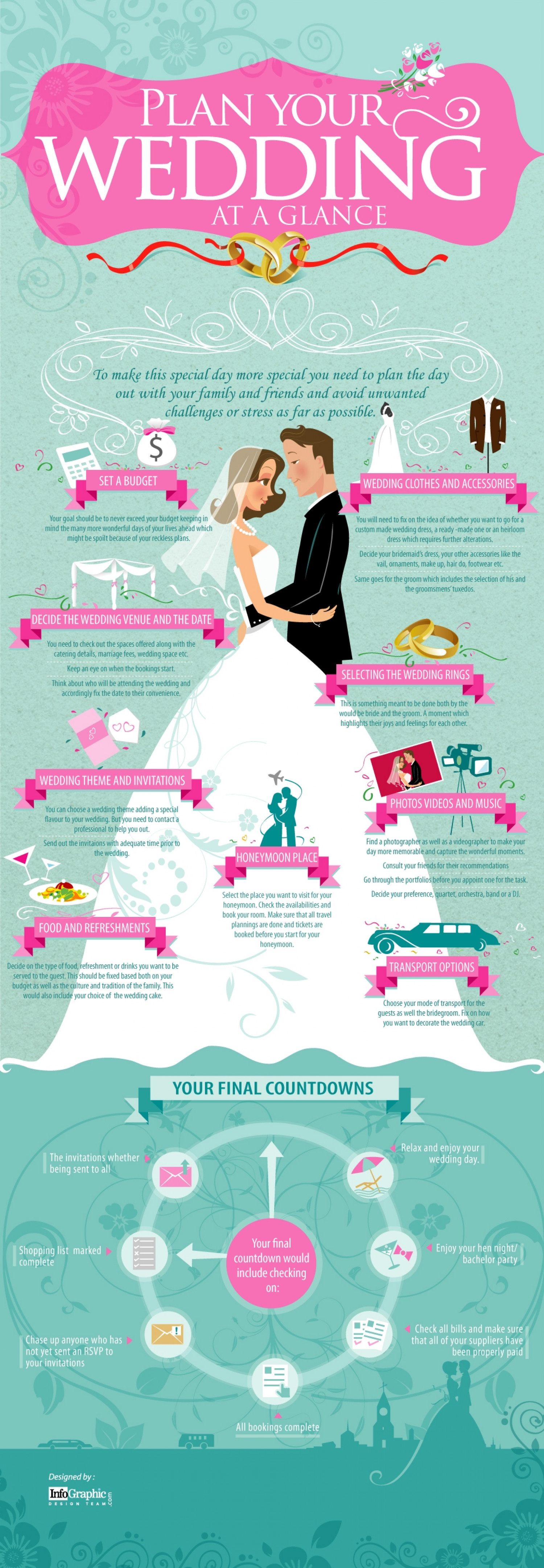 Plan your Wedding at a Glance Infographic
