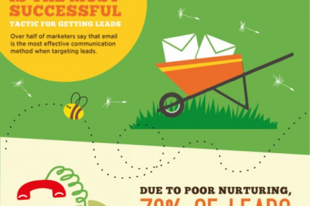 Planting a Seed and Nurturing a Lead Infographic