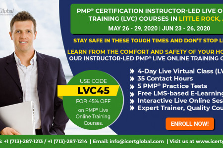 PMP Certification Live Online Training Instructor-Led Course in Little Rock, AR | iCert Global Infographic