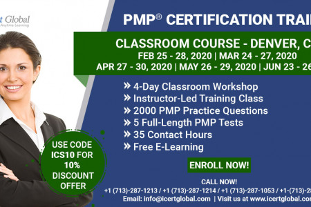 PMP Certification Training Course in Denver, CO   Classroom Training   iCert Global Infographic