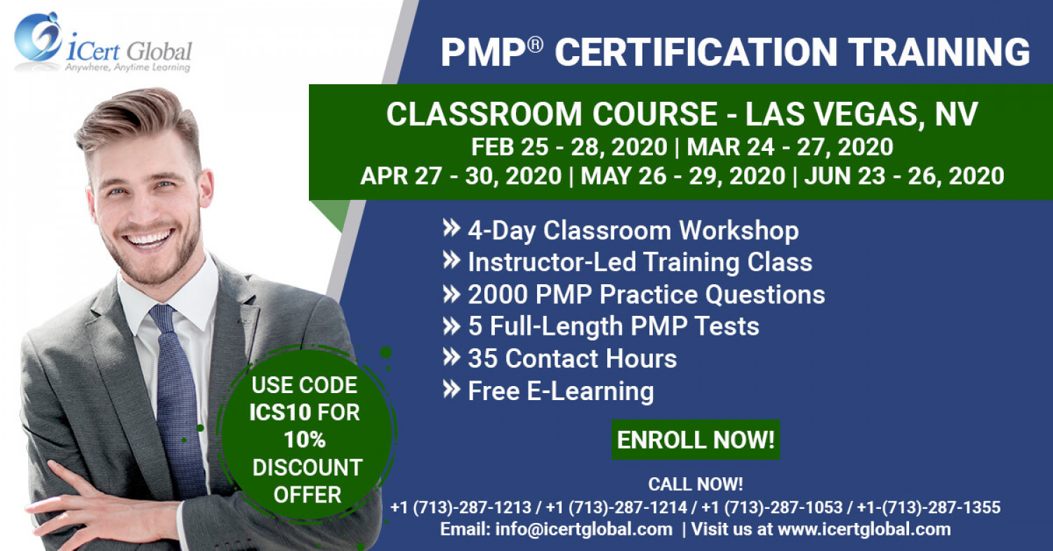 PMP Certification Training Course in Las Vegas, NV   Classroom Training   iCert Global Infographic